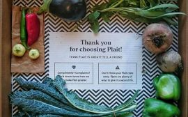 Organic food subscription box