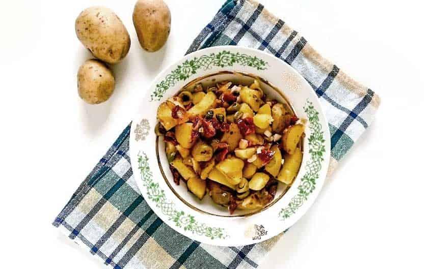 Mediterranean Potato Warm Salad