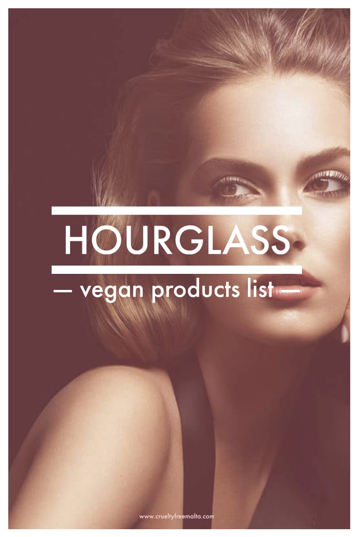 Hourglass vegan products list
