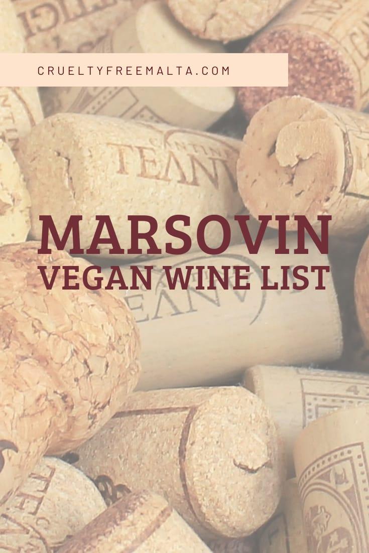 Marsovin Vegan Wine List