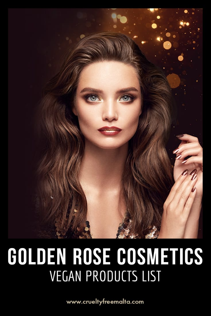 Golden Rose Cosmetics vegan products list