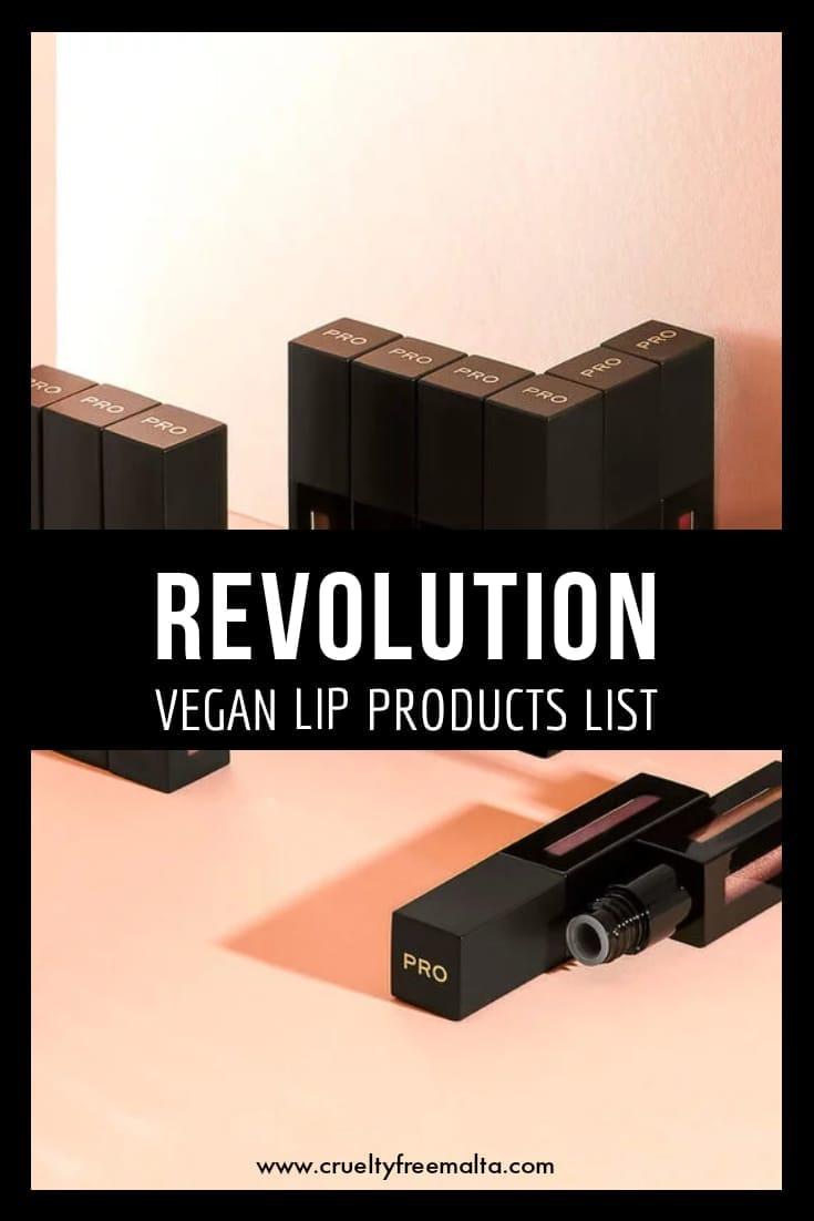 Revolution Vegan Lip Products List