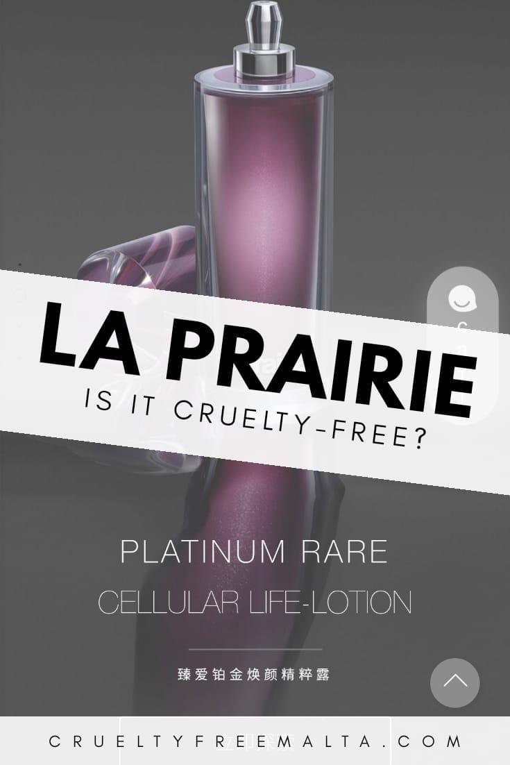 Is La Prairie cruelty-free?