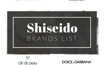 Shiseido Brands List