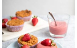 Apple-Carrot Cupcakes with 2-ingredients Strawberry Frosting Recipe