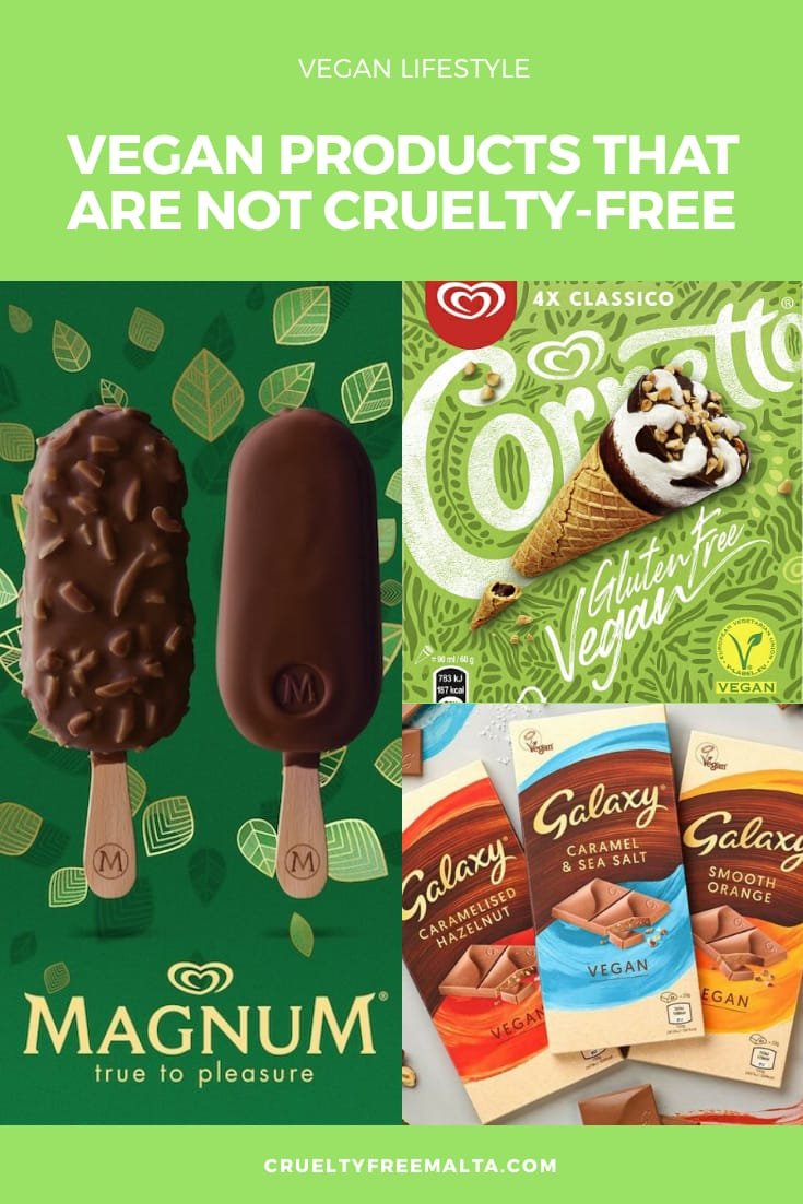 Vegan food products that are not cruelty-free