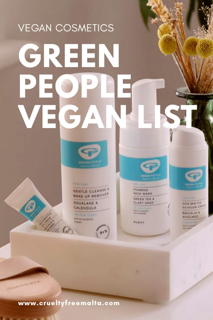 Green People Vegan List