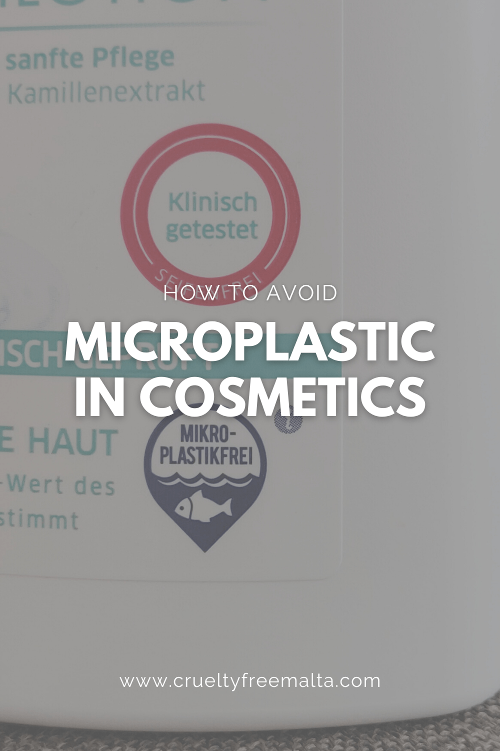 How to avoid microplastic in cosmetics