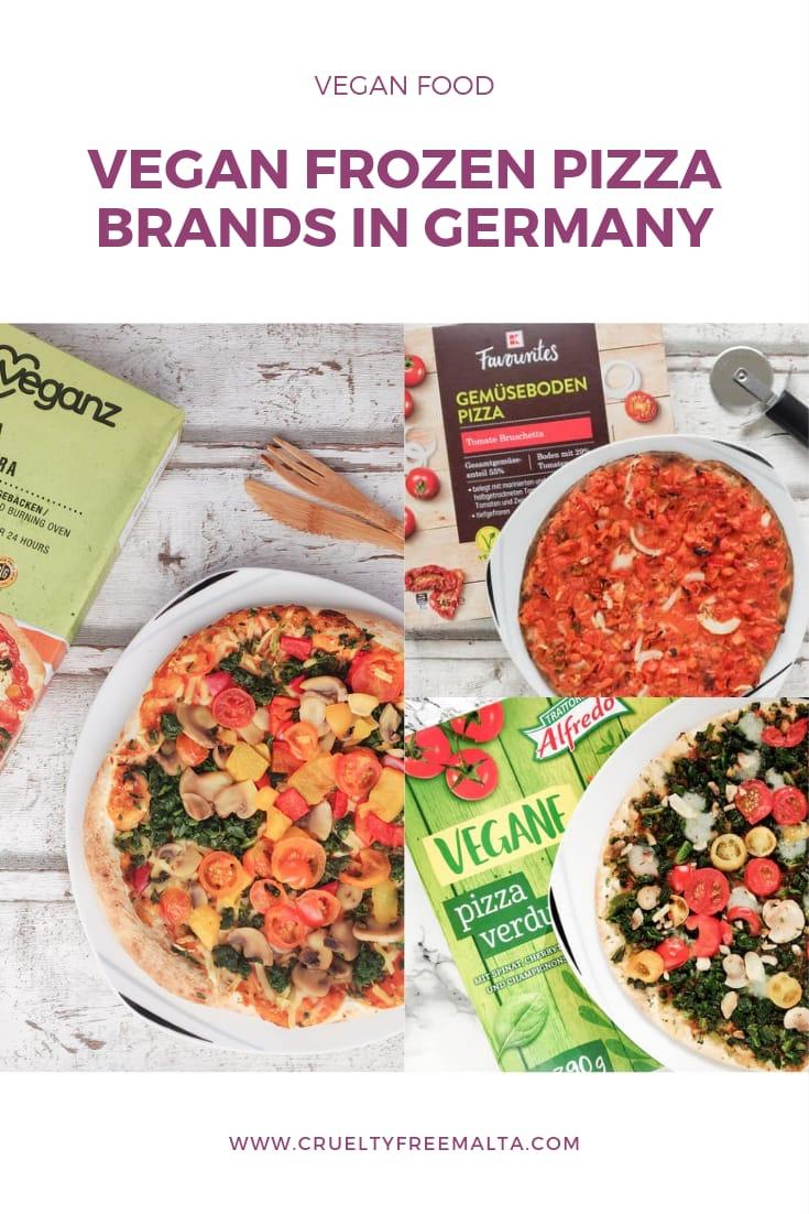 Vegan frozen pizza in Germany