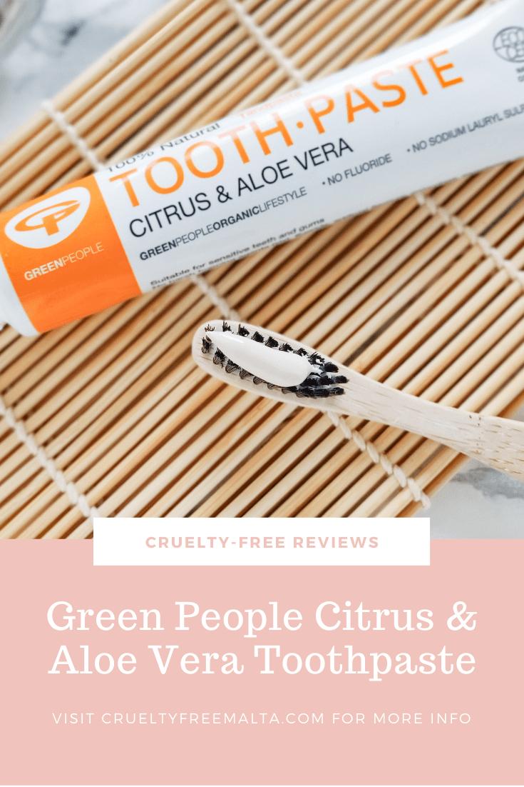 Green People Citrus & Aloe Vera Toothpaste Review